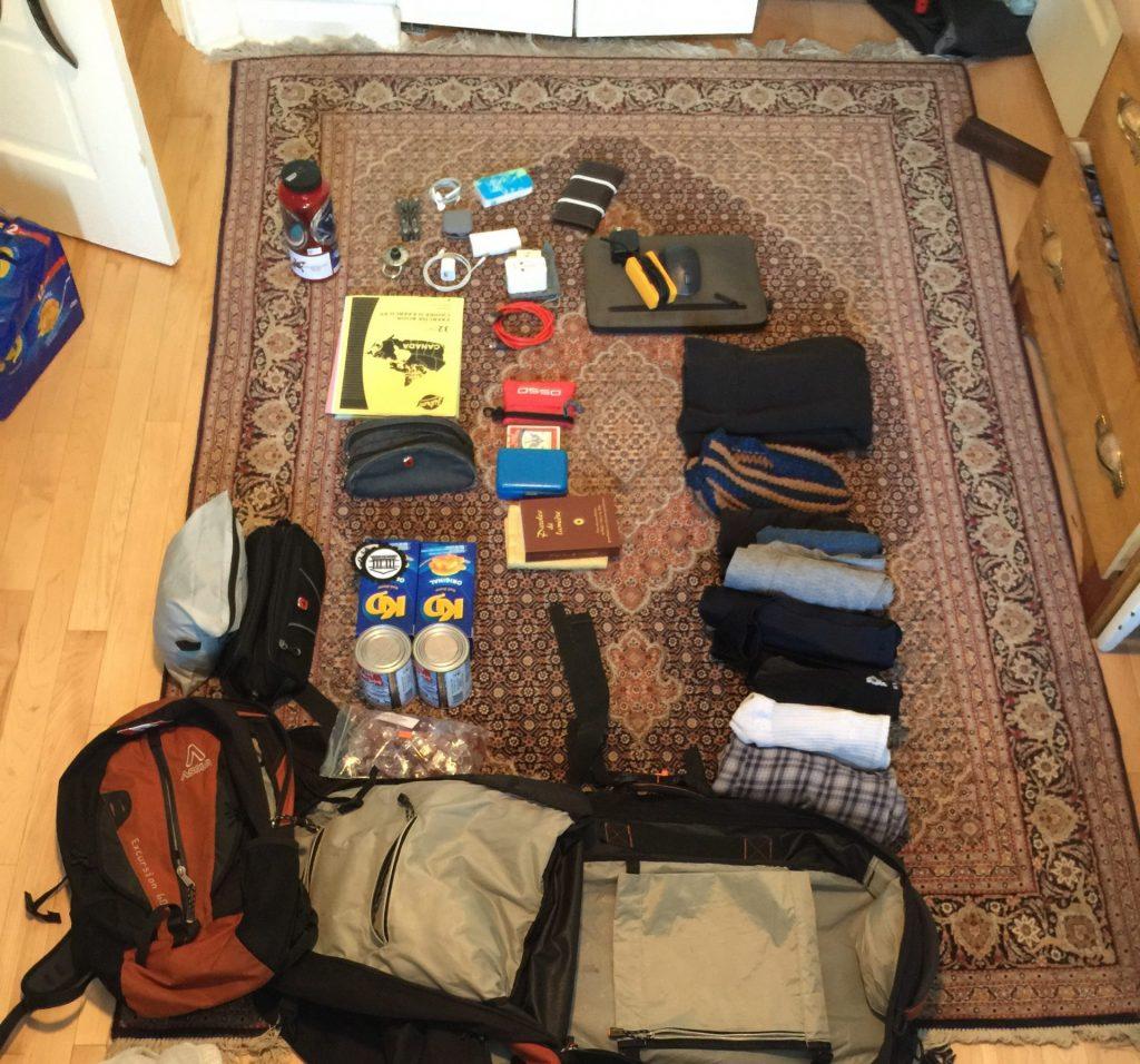 My stuff on the floor