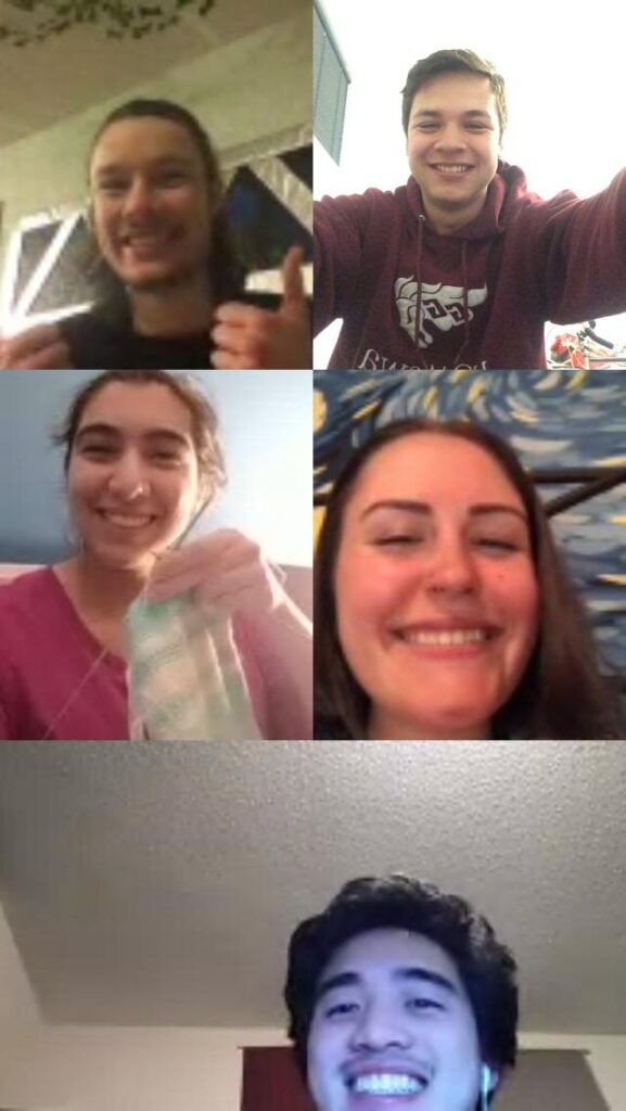 My friends on a group call